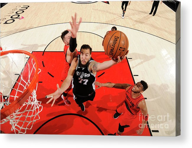 Nba Pro Basketball Acrylic Print featuring the photograph Joffrey Lauvergne by Cameron Browne