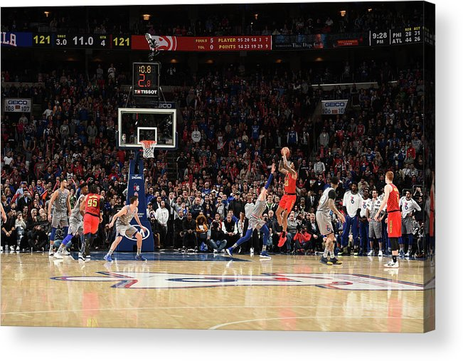 Nba Pro Basketball Acrylic Print featuring the photograph John Collins by David Dow