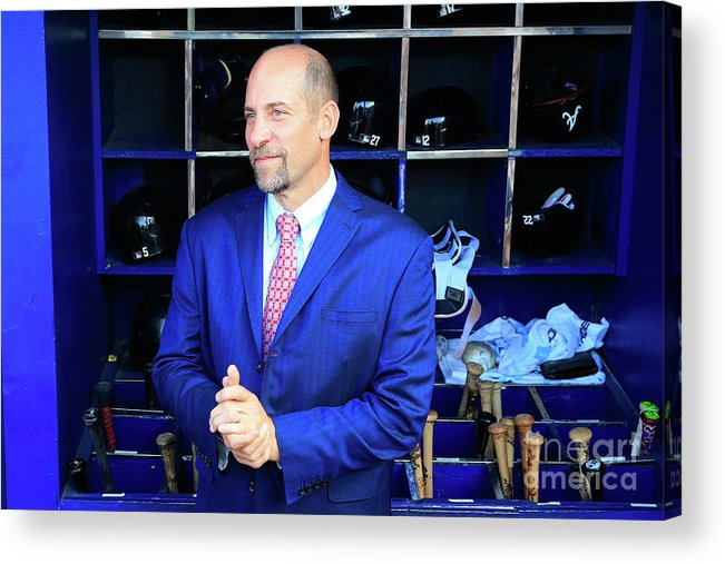 Atlanta Acrylic Print featuring the photograph John Smoltz by Daniel Shirey
