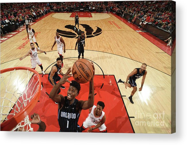 Playoffs Acrylic Print featuring the photograph Jonathan Isaac by Ron Turenne