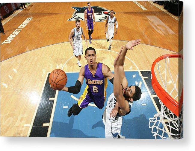 Nba Pro Basketball Acrylic Print featuring the photograph Jordan Clarkson by David Sherman
