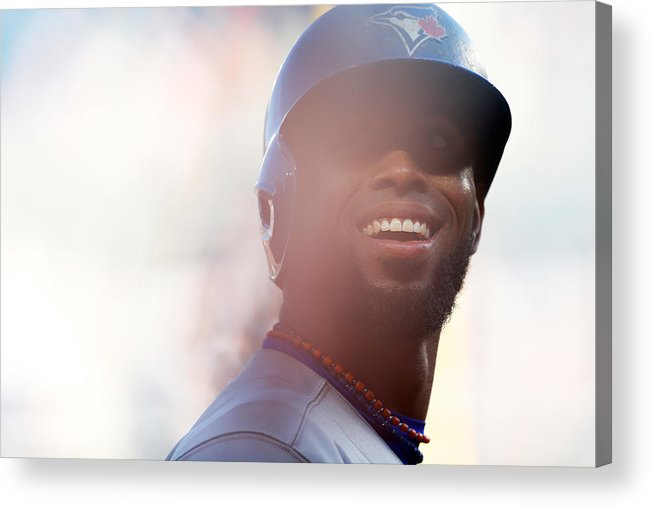American League Baseball Acrylic Print featuring the photograph Jose Reyes by Mike Stobe