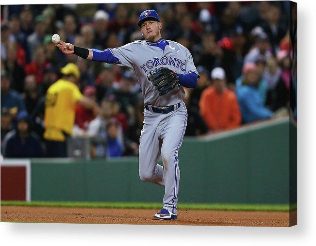 American League Baseball Acrylic Print featuring the photograph Josh Donaldson by Maddie Meyer