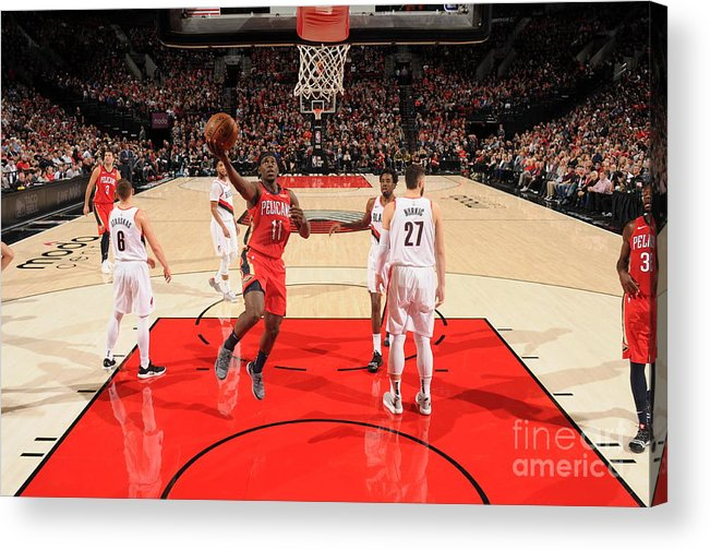 Nba Pro Basketball Acrylic Print featuring the photograph Jrue Holiday by Cameron Browne