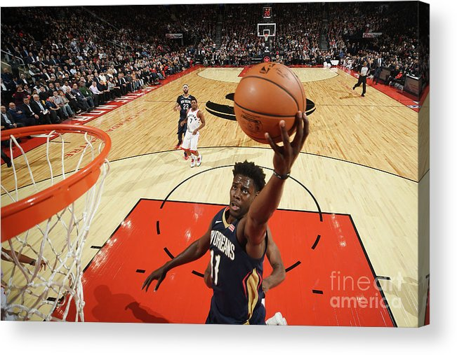 Nba Pro Basketball Acrylic Print featuring the photograph Jrue Holiday by Ron Turenne