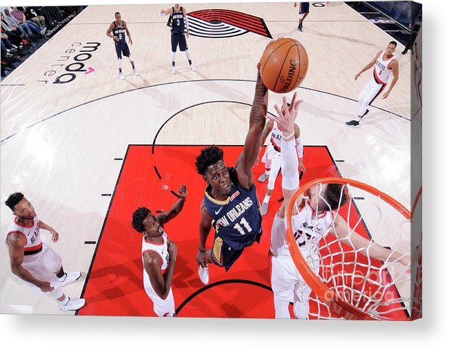 Playoffs Acrylic Print featuring the photograph Jrue Holiday by Sam Forencich