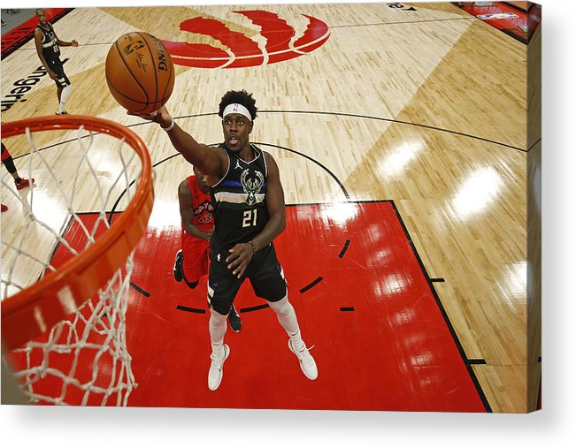 Nba Pro Basketball Acrylic Print featuring the photograph Jrue Holiday by Scott Audette