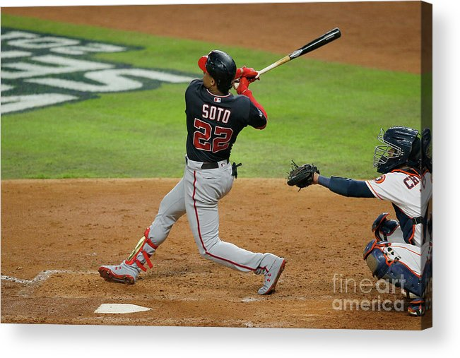 American League Baseball Acrylic Print featuring the photograph Juan Soto by Bob Levey