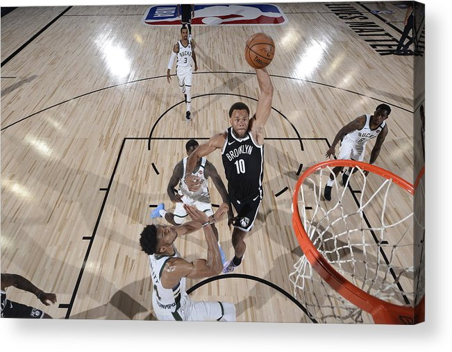 Nba Pro Basketball Acrylic Print featuring the photograph Justin Anderson by David Dow