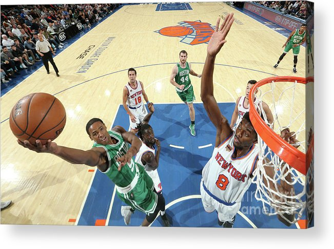 Nba Pro Basketball Acrylic Print featuring the photograph Justin Holiday and Demetrius Jackson by Nathaniel S. Butler