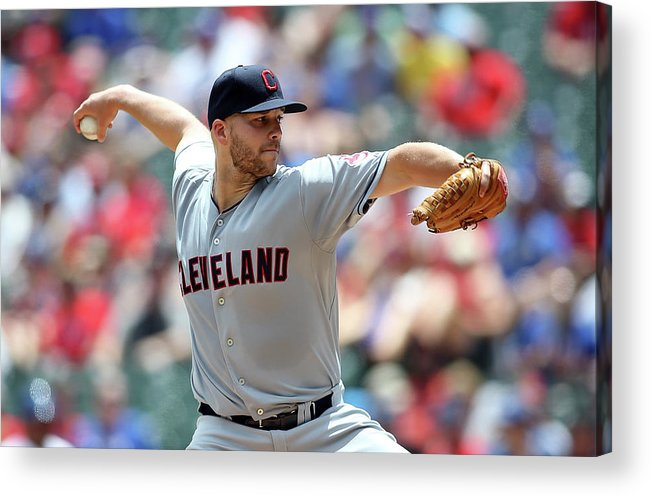 Second Inning Acrylic Print featuring the photograph Justin Masterson by Rick Yeatts