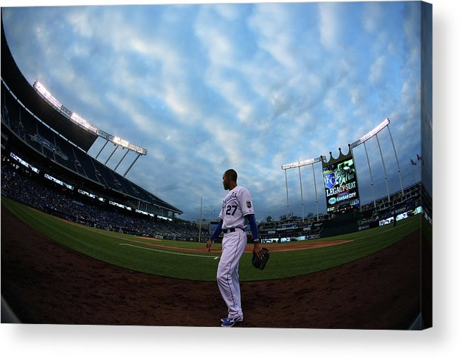 Second Inning Acrylic Print featuring the photograph Justin Maxwell by Ed Zurga