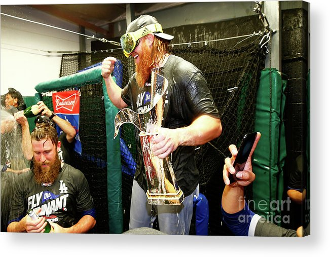 Championship Acrylic Print featuring the photograph Justin Turner by Jamie Squire