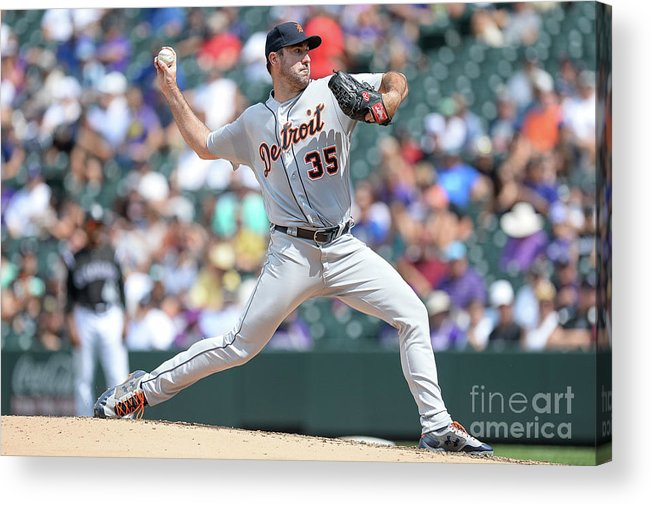 People Acrylic Print featuring the photograph Justin Verlander by Dustin Bradford