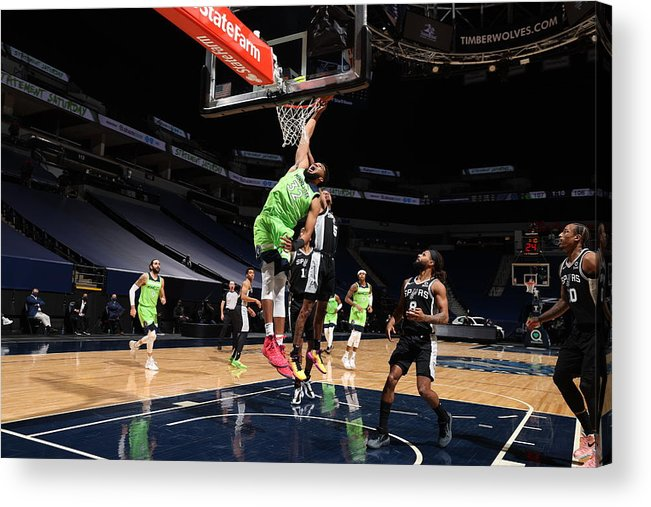 Nba Pro Basketball Acrylic Print featuring the photograph Karl-anthony Towns by David Sherman