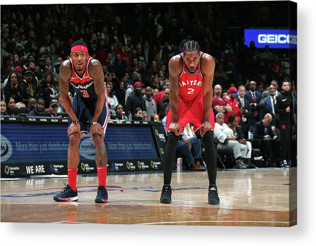 Nba Pro Basketball Acrylic Print featuring the photograph Kawhi Leonard and Bradley Beal by Ned Dishman