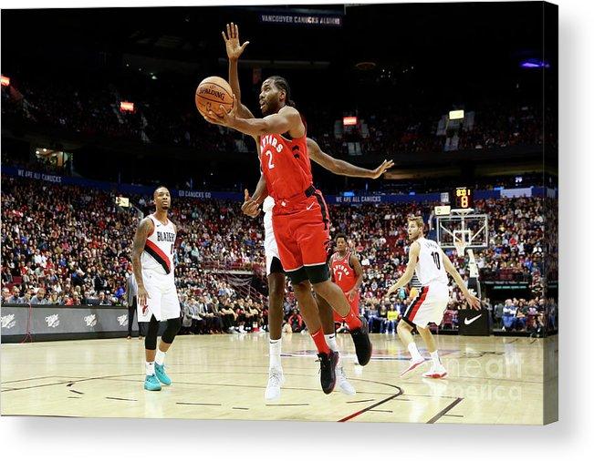 Nba Pro Basketball Acrylic Print featuring the photograph Kawhi Leonard by Jeff Vinnick
