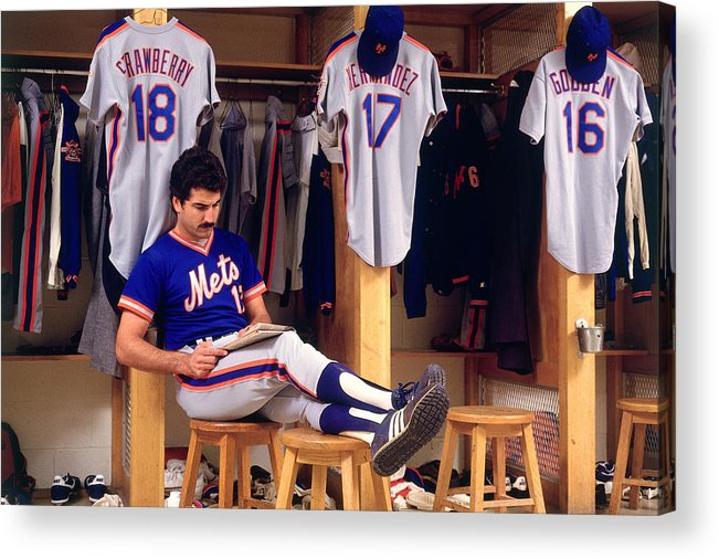1980-1989 Acrylic Print featuring the photograph Keith Hernandez by Ronald C. Modra/sports Imagery
