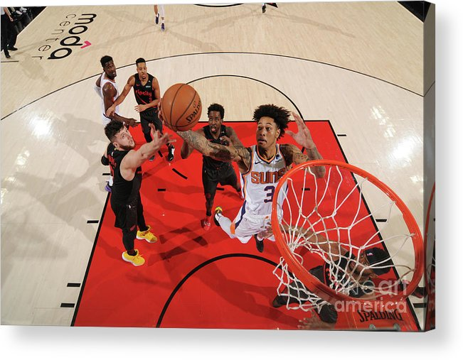 Nba Pro Basketball Acrylic Print featuring the photograph Kelly Oubre by Cameron Browne