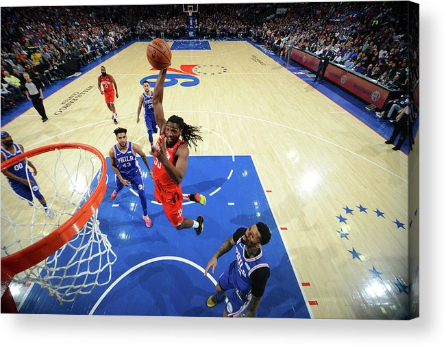 Nba Pro Basketball Acrylic Print featuring the photograph Kenneth Faried by Jesse D. Garrabrant