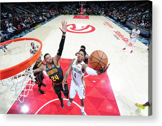 Atlanta Acrylic Print featuring the photograph Kent Bazemore and Elfrid Payton by Scott Cunningham