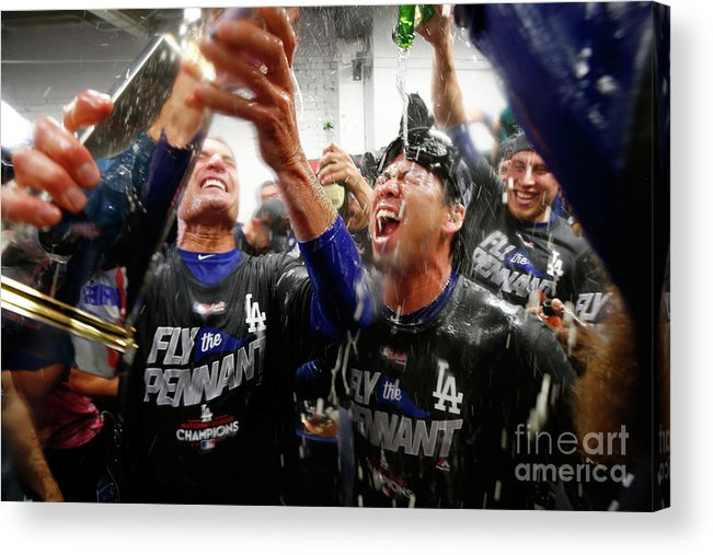 Championship Acrylic Print featuring the photograph Kenta Maeda by Jamie Squire