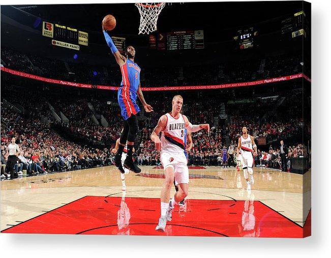 Nba Pro Basketball Acrylic Print featuring the photograph Kentavious Caldwell-pope by Cameron Browne