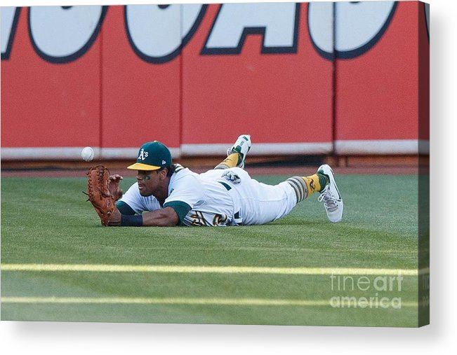 People Acrylic Print featuring the photograph Khris Davis and George Springer by Jason O. Watson