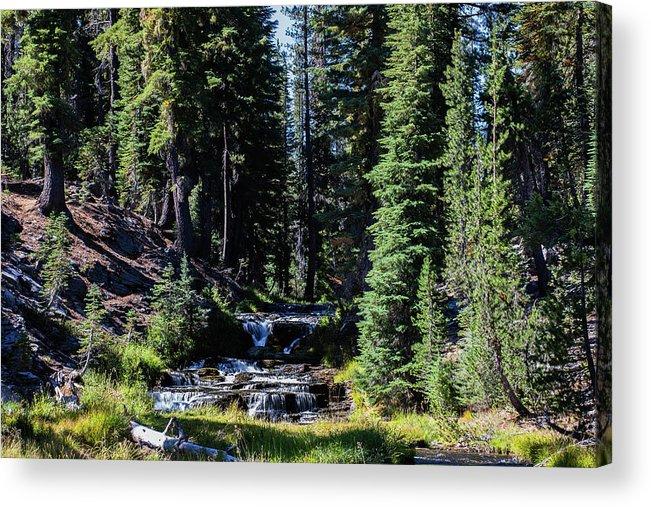 Creek Acrylic Print featuring the photograph Kings Creek cascades by John Heywood