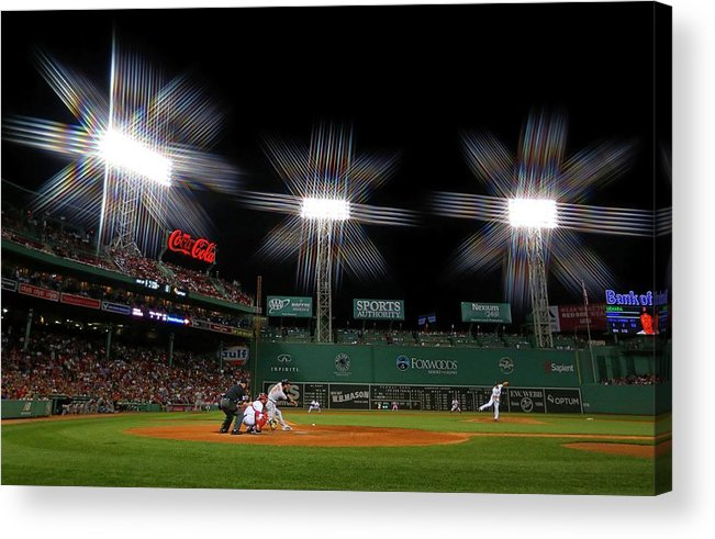 Ninth Inning Acrylic Print featuring the photograph Koji Uehara by Winslow Townson