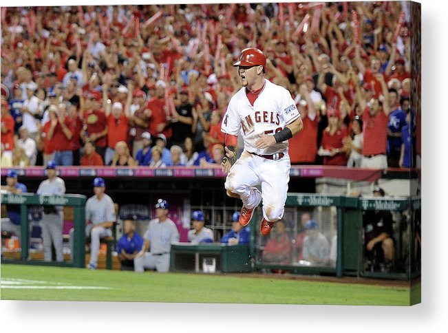 Game Two Acrylic Print featuring the photograph Kole Calhoun by Harry How