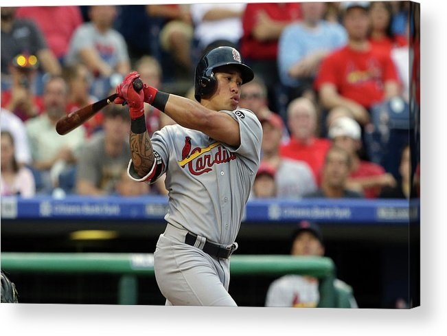 St. Louis Cardinals Acrylic Print featuring the photograph Kolten Wong by Hunter Martin