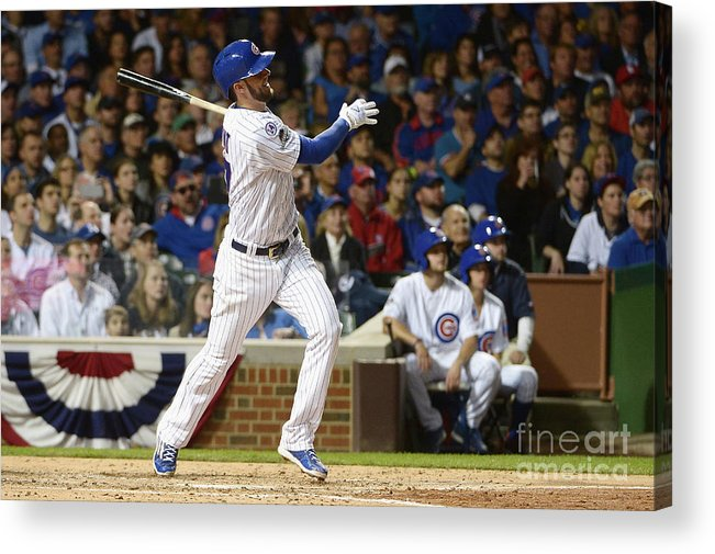 People Acrylic Print featuring the photograph Kris Bryant by David Banks