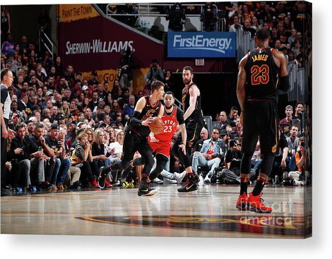 Playoffs Acrylic Print featuring the photograph Kyle Korver by Jeff Haynes