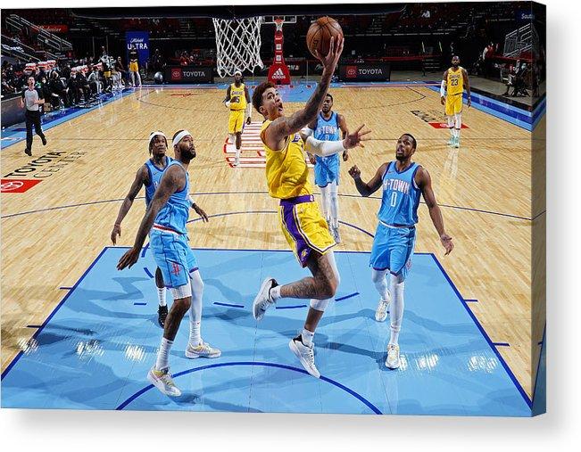Nba Pro Basketball Acrylic Print featuring the photograph Kyle Kuzma by Cato Cataldo