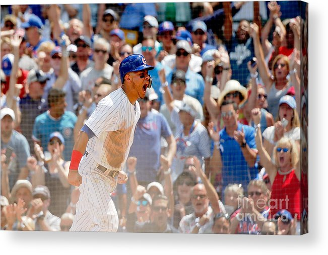 Second Inning Acrylic Print featuring the photograph Kyle Schwarber and Willson Contreras by Jon Durr