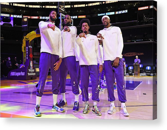Playoffs Acrylic Print featuring the photograph LA Clippers v Los Angeles Lakers by Andrew D. Bernstein