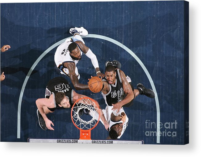 Playoffs Acrylic Print featuring the photograph Lamarcus Aldridge by Joe Murphy