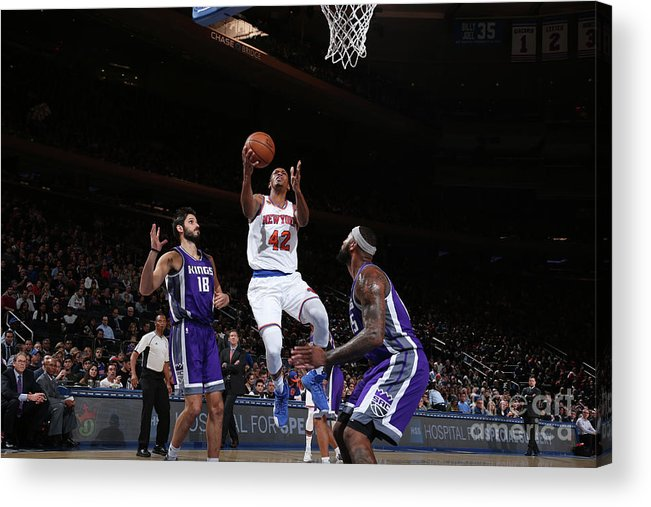 Nba Pro Basketball Acrylic Print featuring the photograph Lance Thomas by Nathaniel S. Butler
