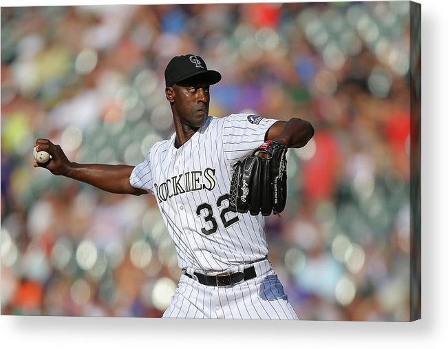 Ninth Inning Acrylic Print featuring the photograph Latroy Hawkins by Justin Edmonds