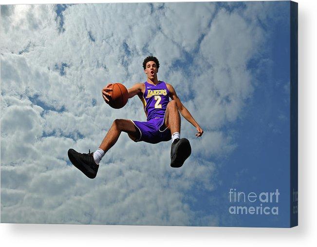 Nba Pro Basketball Acrylic Print featuring the photograph Lonzo Ball by Jesse D. Garrabrant