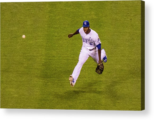 People Acrylic Print featuring the photograph Lorenzo Cain and Joey Gallo by Kyle Rivas