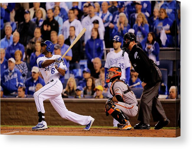 Second Inning Acrylic Print featuring the photograph Lorenzo Cain by Doug Pensinger