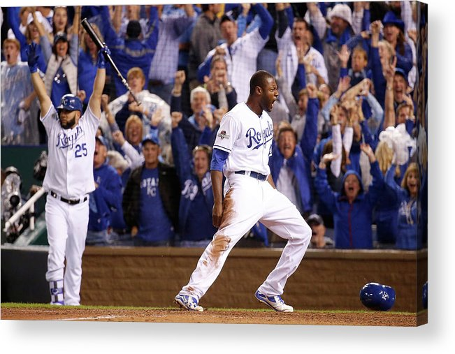 People Acrylic Print featuring the photograph Lorenzo Cain by Rob Carr