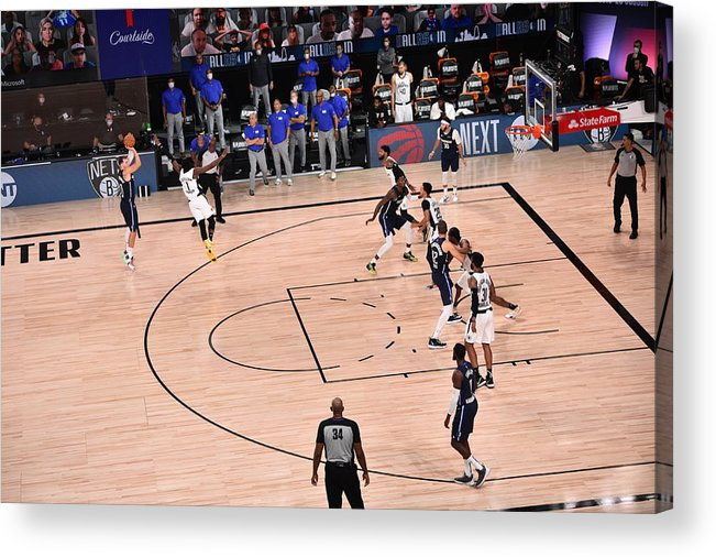 Playoffs Acrylic Print featuring the photograph Los Angeles Clippers v Dallas Mavericks - Game Four by David Dow