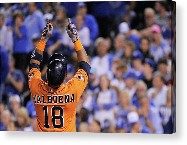 Second Inning Acrylic Print featuring the photograph Luis Valbuena by Ed Zurga
