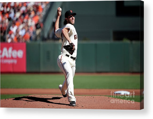 San Francisco Acrylic Print featuring the photograph Madison Bumgarner by Pool