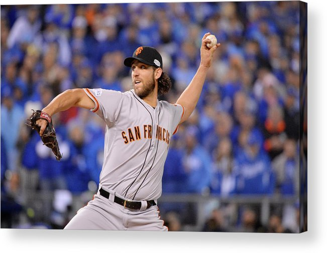 Playoffs Acrylic Print featuring the photograph Madison Bumgarner by Ron Vesely
