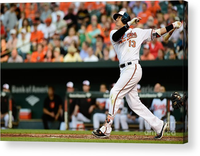 Second Inning Acrylic Print featuring the photograph Manny Machado by Patrick Mcdermott