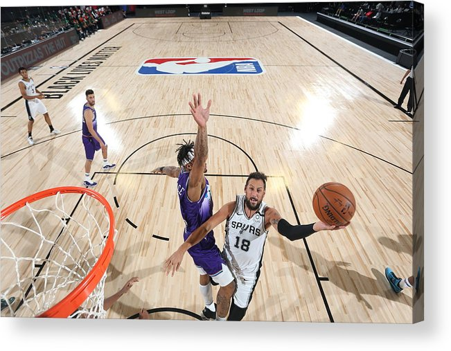 Nba Pro Basketball Acrylic Print featuring the photograph Marco Belinelli by David Dow